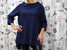 Дамска блуза с дълъг ръкав - GIANNA - синя
