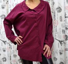 Дамска риза с дълъг ръкав- SADIE- бордо