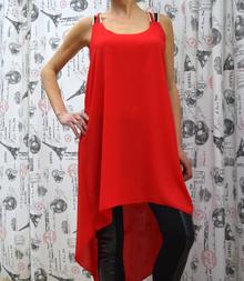 Дамска туника - JAYDEN - червена
