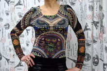 Дамско боди с дълъг ръкав - KATIE- цветно