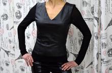 Дамско боди с дълъг ръкав - JADA- черно