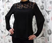 Дамска блуза с дълъг ръкав - HAILEY - черна