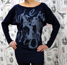 Дамска рокля с дълъг ръкав - MADISSON -тъмно синя