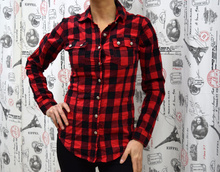 Дамска риза с дълъг ръкав - HAILEY- каре бордо