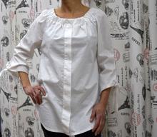Дамска блуза с дълъг ръкав - PEYTON-бяла