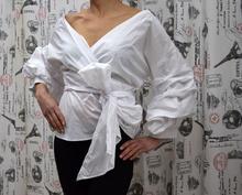 Дамска риза с дълъг ръкав тип