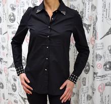 Дамска риза с дълъг ръкав - GRACE- черна
