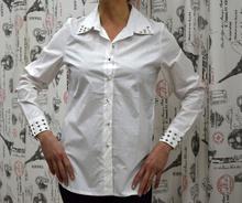 Дамска риза с дълъг ръкав -GRACE - бяла