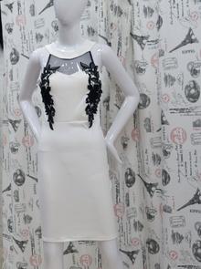 Елегантна дамска рокля - RACHEL- бяла