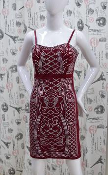 Елегантна дамска рокля - JAYDEN - червена