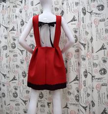 Елегантна дамска рокля - JENNA - червена с гол гръб