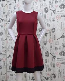 Елегантна дамска рокля - JAYDEN - бордо с гол гръб