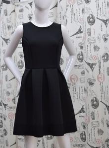 Елегантна дамска рокля - JAYDEN - черна с гол гръб