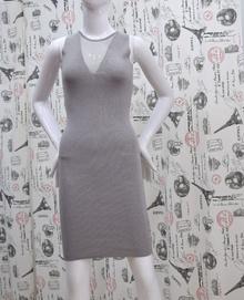 Елегантна дамска рокля - JENNA - сива /плетиво/