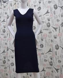 Елегантна дамска рокля - ALLISON - тъмно синя