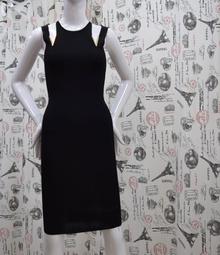 Елегантна дамска рокля - AMBER - черна