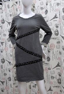 Ежедневна дамска рокля - JORDAN - сива