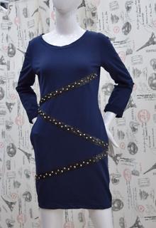 Ежедневна дамска рокля - JORDAN -  тъмно синя