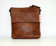 Мъжка чанта ЛУКС колекция - JUSTIN - светло кафява