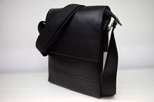 Мъжки чанти ЛУКС колекция - ANTHONY - черна с къс магнитен капак