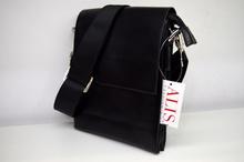 Мъжка чанта - TYLER - черна с капак