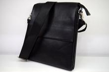 Мъжка чанта ЛУКС колекция - JOSEPH - черна с магнитен капак къс