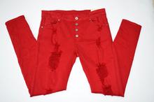 Дамски панталон тип потур - червен