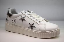 Дамски кецове - STARS - бели, сребърни