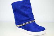 Дамски летни ботуши на платформа - MARY - сини