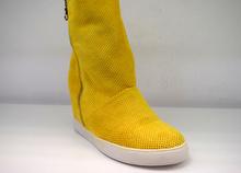 Дамски летни ботуши на платформа - ALLISON- жълти