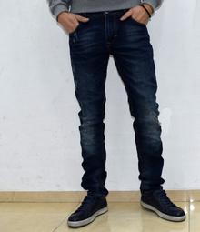 Модни мъжки дънки - ALEXANDER - тъмно сини