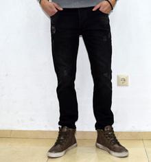 Модни мъжки дънки - ANDREW - черни