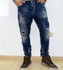 Модни мъжки дънки тип потур - ANTHONY - сини