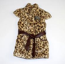Детски стилен елек - AVA - леопардов десен за 4 годишни