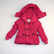 Детско зимно яке - LILY - розово за 1 и 6 годишни