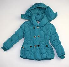 Детско зимно яке - LILY - преливащо синьо - зелено за 5 и 6 годишни