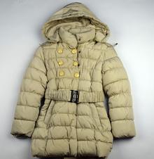 Детско - юношеско зимно яке - EVA - светло бежово за 10 годишни