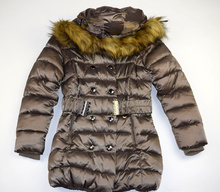 Детско - юношеско яке - CHLOE - светло кафяво за 10 и 16 годишни