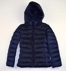 Есенно детско яке - ЕММА - тъмно синьо с дантела за 4/5 годишни