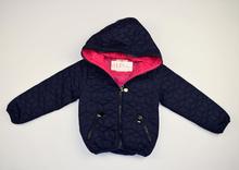 Детско пролетно яке - PINK AND BLUE -тъмно синьо с розова подплата за 4, 10 и 12 годишни
