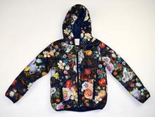 Модно пролетно яке - FLORA - тъмно синьо на цветя за 8 годишни