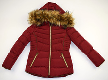 Модно зимно яке за деца  - ALEXIS - бордо с пух за 4 годишни