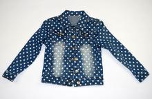 Модно детско дънково яке - ZOE - синьо за 3 годишни