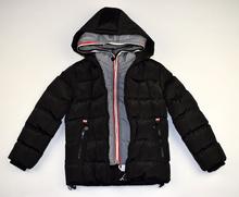 Детско зимно яке - CONNOR - черно за 6 годишни с двоен цип