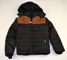 Юношеско зимно яке - AIDEN - черно/кафяво от 8 до 16 годишни