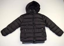 Зимно детско яке - MICHAEL- тъмно сиво с двоен цип 8-16 годишни