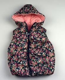 Цветна топла грейка - JSJ KIDS - на цветя с розова памучна подплата за 4, 5 и 6 годишни