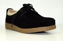 Дамски обувки ЕСТЕСТВЕНА КОЖА И НАБУК - черни