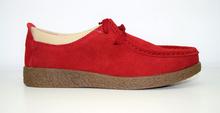 Дамски обувки ЕСТЕСТВЕНА КОЖА И НАБУК - червени