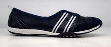 Дамски обувки тип пантофки ЕСТЕСТВЕНА КОЖА - тъмно сини